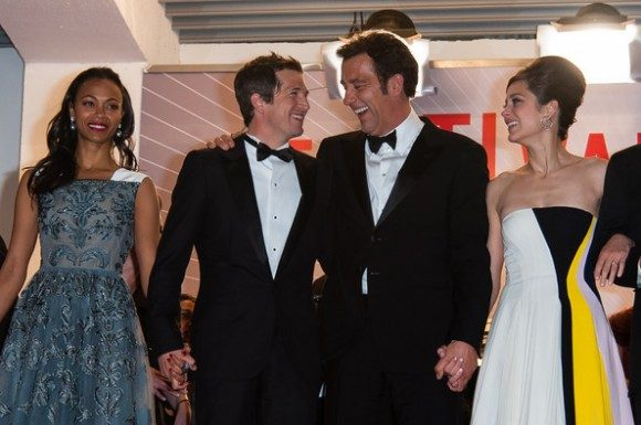 (from left to right) Zoe Saldana, Guillaume Canet, Clive Owen, and Marion Cotillard