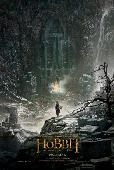 hobbit smaug poster bilbo outside lonely mountain