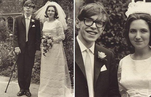Stephen Hawking and Jane Wilde at their wedding in 1965