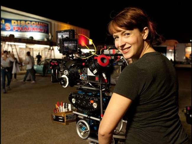 Diablo Cody on the set directing 'Paradise'.
