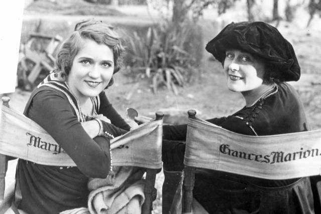Mary Pickford with screenwriter Frances Marion
