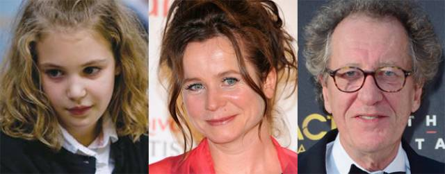 Sophie Nelisse, Emily Watson and Geoffrey Rush star in 'The Book Thief'.