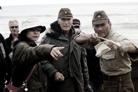 Clint Eastwood (center) on the set of his 2006 film 'Letters from Iwo Jima'