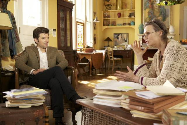 Adam Scott and Jane Lynch in A.C.O.D.