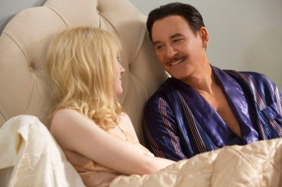 Dakota Fanning and Kevin Kline in 'The Last of Robin Hood'