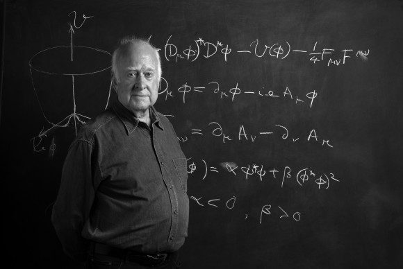 Peter Higgs 49 B and W