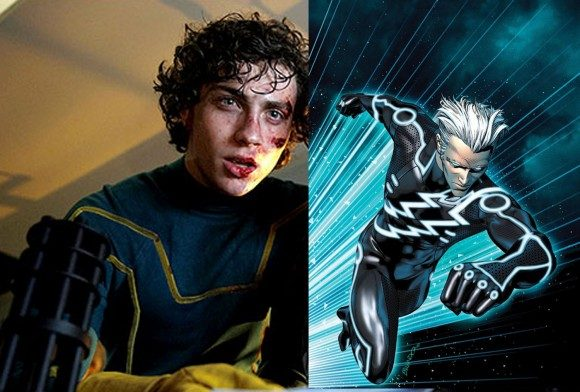 Aaron Taylor-Johnson in 'Kick-Ass' (left) to play Marvel's Quicksilver (right)
