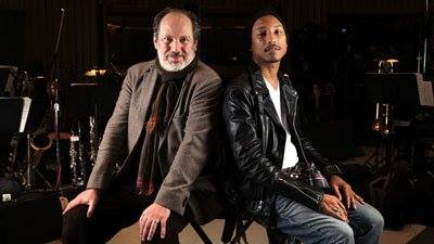 Hans Zimmer (left) with Pharrell Williams (right)