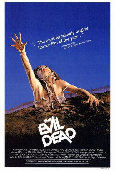 A poster for the original 'The Evil Dead'