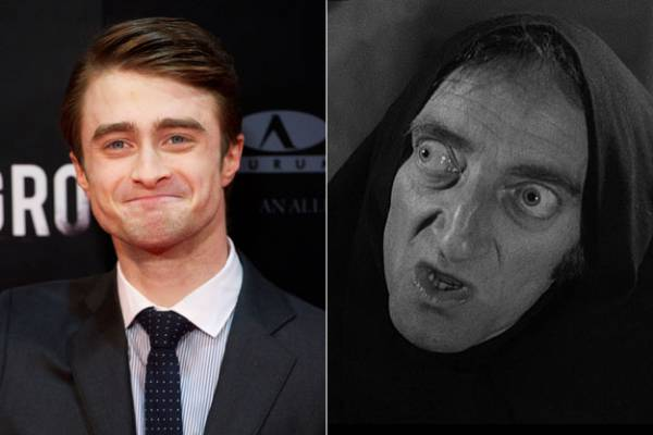 Daniel Radcliffe plays the Dwight Frye character 'igor' in 'Frankenstein'