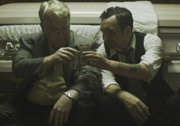 Philip Seymour Hoffman and Eddie Marsan in 'God's Pocket'