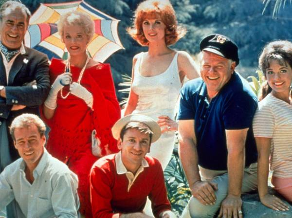 Jim Backus, Natalie Schafer, Tina Louise, Russell Johnson, Bob Denver, Alan Hale Jr. and Mary Ann Wells of the TV series 'Gilligan's Island'.