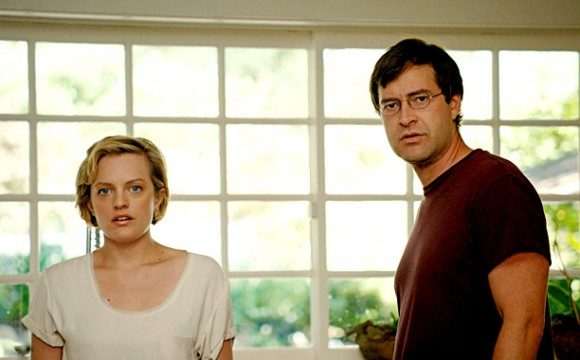Elisabeth Moss (left) and Mark Duplass
