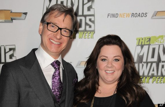 Director Paul Feig with leading actress Melissa McCarthy