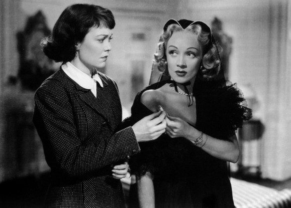 Wyman and Dietrich in Stage Fright