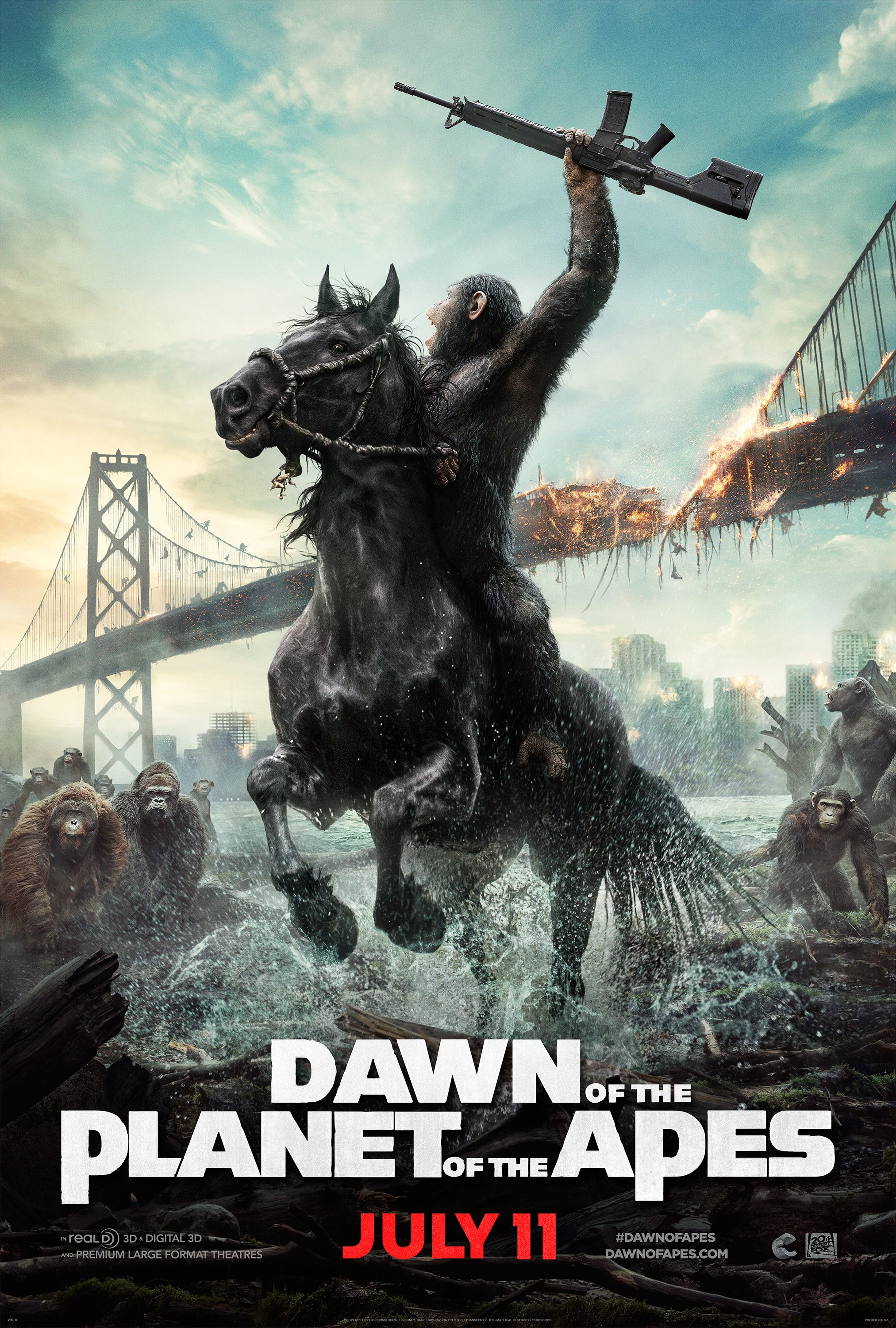 Movie Review Dawn Of The Planet Of The Apes Mxdwn Movies