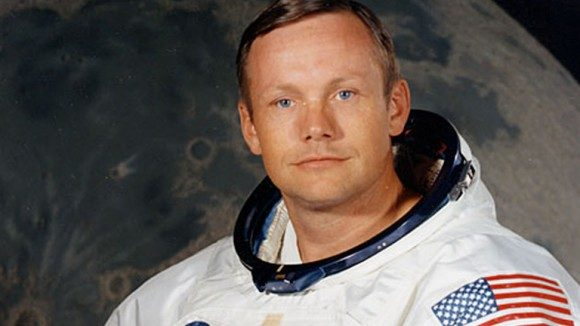 Neil Armstrong, the first man to walk on the moon