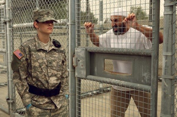 Peyman Moaadi confronts Kristen Stewart in 'Camp X-Ray'