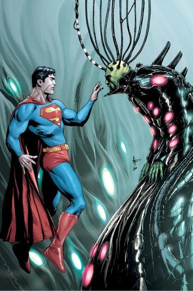 Superman and villain Brainiac