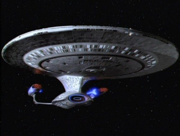 The Enterprise from The Next Generation