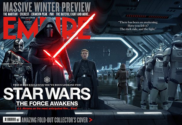 The Dark side themed cover of Empire's October Issue.