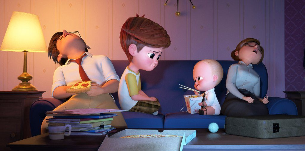 Image result for boss baby scene with parents being exhausted