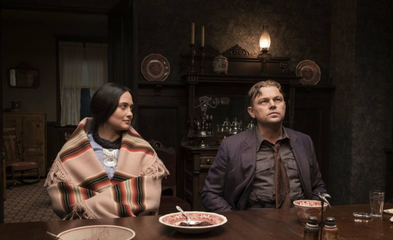 First image of Leonardo Dicaprio and Lily Gladstone in Martin Scorcesse's 'Killers on the Flower Moon' released